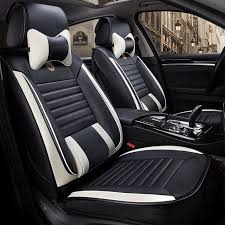 leather universal car seat cover front rear seats covers for citroen c5 xsara cadillac