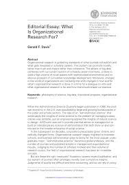 editorial essay what is organizational research for pdf  editorial essay what is organizational research for pdf available