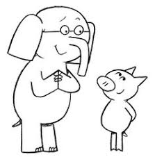 Small Picture Elephant And Piggie Coloring Page School Library Stuff