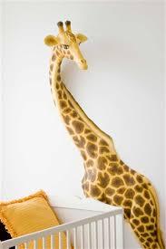 crafty design giraffe wall decor beetling african safari 3d art nursery sticker head baby print and