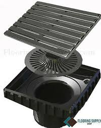ebbe unique series square shower drain parallel full kit grate and 2