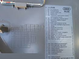 audi a4 quattro fuse box location fuse box location list diagram audi a4 b7 2004 2008 audi a4 fuse box location diagram