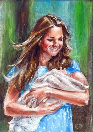 royal baby prince george introduced kate middleton portrait oil painting aceo how to paint chiriac you