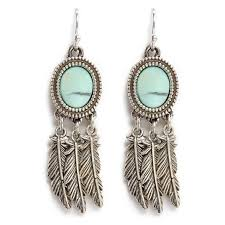 <b>Philippe Audibert</b> 'Athalia' marbled stone feather drop earrings (4 ...