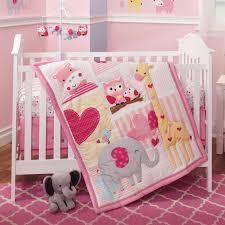 bubblegum jungle 3 piece crib bedding sets home design pink elephant bedtime originals set reviews wayfair5
