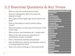 2 2 2 Nutritional Terms Chart Answer Key Unit Two Diabetes Serious Effects A Disease Within One