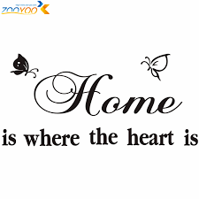 Home Is Where The Heart Is Quote Wall Decals Zooyoo40 Diy Adesivo Impressive Home Is Where The Heart Is Quote