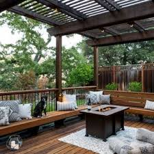 backyard decking designs. Unique Designs Example Of A Large Classic Backyard Deck Design In San Francisco With  Fire Pit And Intended Backyard Decking Designs S