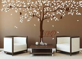 wall decal removable wall sticker nursery large corner tree decal with birds