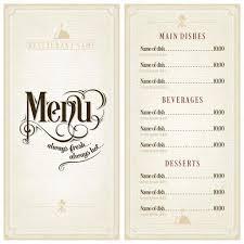 Menu Design Template Restaurant Or Cafe Menu Design Template Stock Vector © Melindula 11