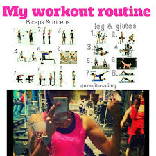 Gym Workout Chart My Gym Workout Routine Mom Fitness Diary