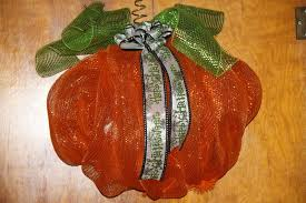 Pumpkin Wreath by Janie Daniels Halloween pumpkin with green & white  Halloween ribbon made with my Pro Bow the hand purchase… | Halloween  ribbon, Craft sale, Crafts