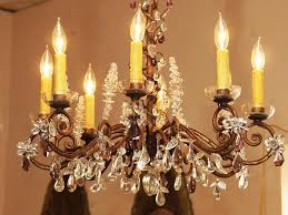 antique crystal chandelier lamp