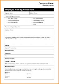 employee warning forms employment warning letter template parlo buenacocina co