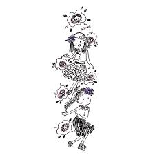 おちゃも At イラストレーター ハンドメイド作家 On Twitter 女の子とお花