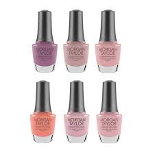 72 95 morgan taylor nail lacquer the color of petals collection includes