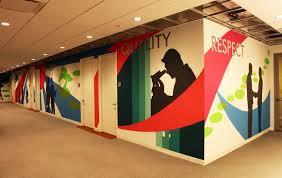 office graffiti wall. Eisai Graffiti Office Wall