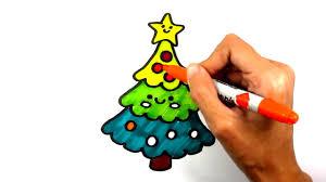 สอนวาดการ์ตูน ต้นคริสต์มาส (Christmas) - YouTube