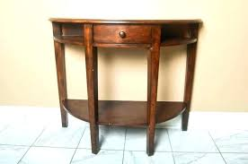 half round entry table half round entry table large size of round console table with inspiring
