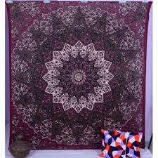 high quality indian mandala tapestry wall hanging blanket throw bohemian dorm bedspread decoration newchic