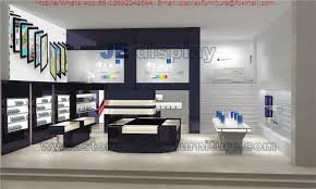 china mobile phone electronic s interior design in display cabinet and counters with tempered glass