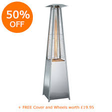 stainless steel patio heaters. Pyramid Flame Patio Heater 13kW - Stainless Steel Heaters S