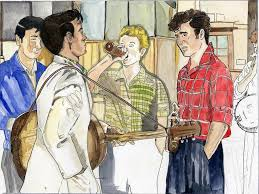 An artistic tribute to July 6th, 1957. The day Ivan Vaughn introduced Paul  McCartney to John Lennon between … | Rock and roll history, Rock and roll,  Paul mccartney