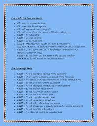 Shortcut Keys Of Windows Operating System And Windows