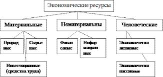 Курсовая работа Человеческий капитал как фактор национальной  Рис 1 1 Классификация экономических ресурсов 5 С 68