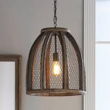 Chicken Wire Pendant Light Large Shades Of Light