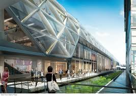 architecture design. One Of The New \u201cElizabeth Line\u201d Crossrail Station Renderings, Canary Wharf. Courtesy Ltd. Architecture Design