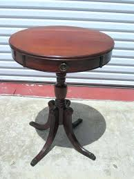 antique round side table popular of vintage round side table with side table maple small round