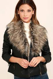 lyst blank nyc fake fur jacket with vegan leather detail in black noise save 51 this vegan entrepreneur is taking on the 40b fur industry and