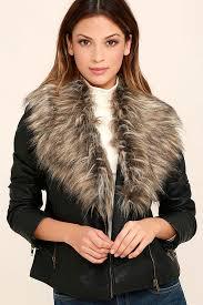 bb dakota henslowe jacket faux fur jacket vegan leather moto jacket 103 00