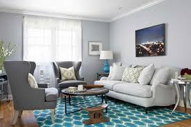 gray and blue rug living room
