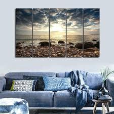 sea stone beach print wall art split canvas paintings inch no frame uk