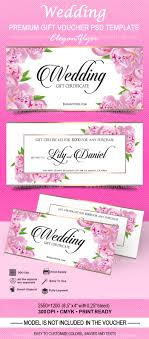 019 Bigpreview Wedding Gift Voucher Psd Template Card Free