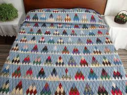 Thousand Pyramids Quilt -- marvelous smartly made Amish Quilts ... & Plaid Navy Blue and Multi Thousand Pyramids Quilt Photo 1 ... Adamdwight.com