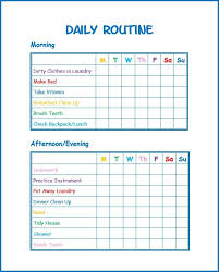 Morning Routine Printable Chart Daily Schedule For Kids Printable Lamasa Jasonkellyphoto Co