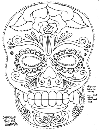 Coloring Pages : Charming Printable Skull Mask Coloring Pages ...