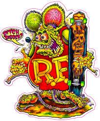 rat fink skate board decal nostalgia decals