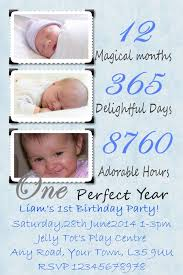 personalised my 1st birthday party invitation blue or pink