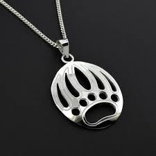bear paw pendant sterling native first