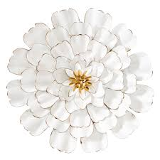 allure 3d gold tipped white flower 24