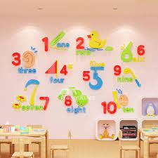 decor nursery school classroom acrylic