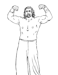 Coloring Pages Wwe Printable Coloring Pagese Wrestling For Kids