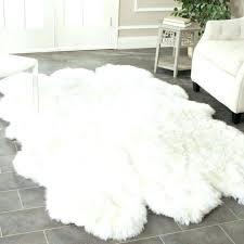 white fur area rug large interior design ideas fascinating faux sheepskin black how do i clean