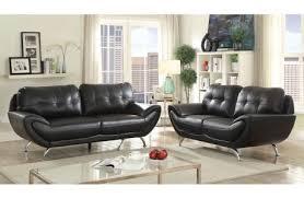 leather living room furniture. Angeline Black Leather Living Room Furniture