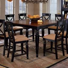 cherry counter height piece: hillsdale northern heights counter height dining table in black and cherry