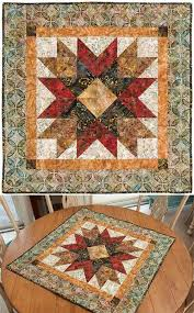 Best 25+ Quilted wall hangings ideas on Pinterest | Mini quilts ... & Addisons Star Wall Or Table Quilt Pattern - 36 x 36 quilt from 4 (finished)  half-square triangles. Elisa uses the acrylic Square Me Up Ruler, ... Adamdwight.com